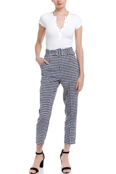 Shoptiques Product: Gingham Belted Trouser