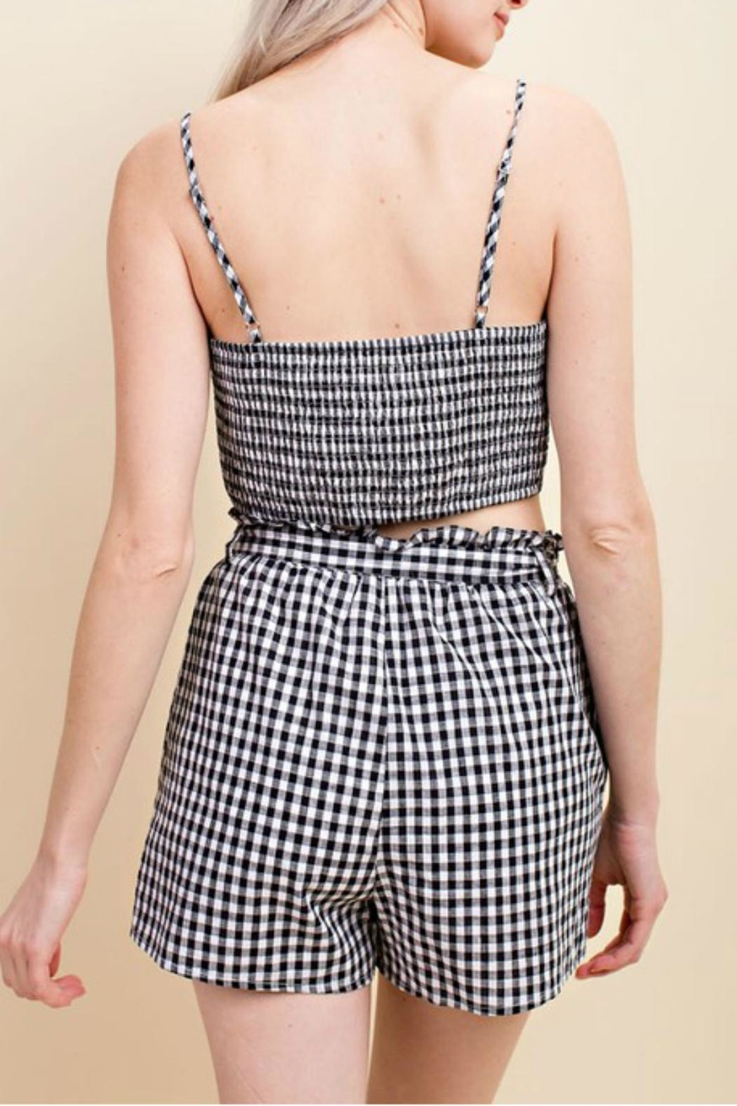 Pretty Little Things Gingham Bow Top - Front Full Image