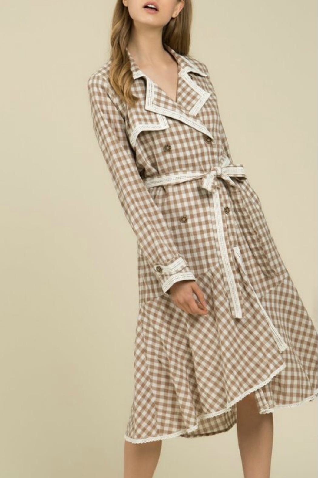 MHGS Gingham Coat Dress - Front Full Image