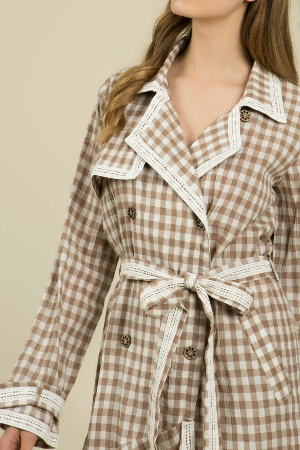 MHGS Gingham Coat Dress - Back Cropped Image