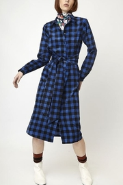 Compania Fantastica Gingham Corduroy Dress - Front cropped