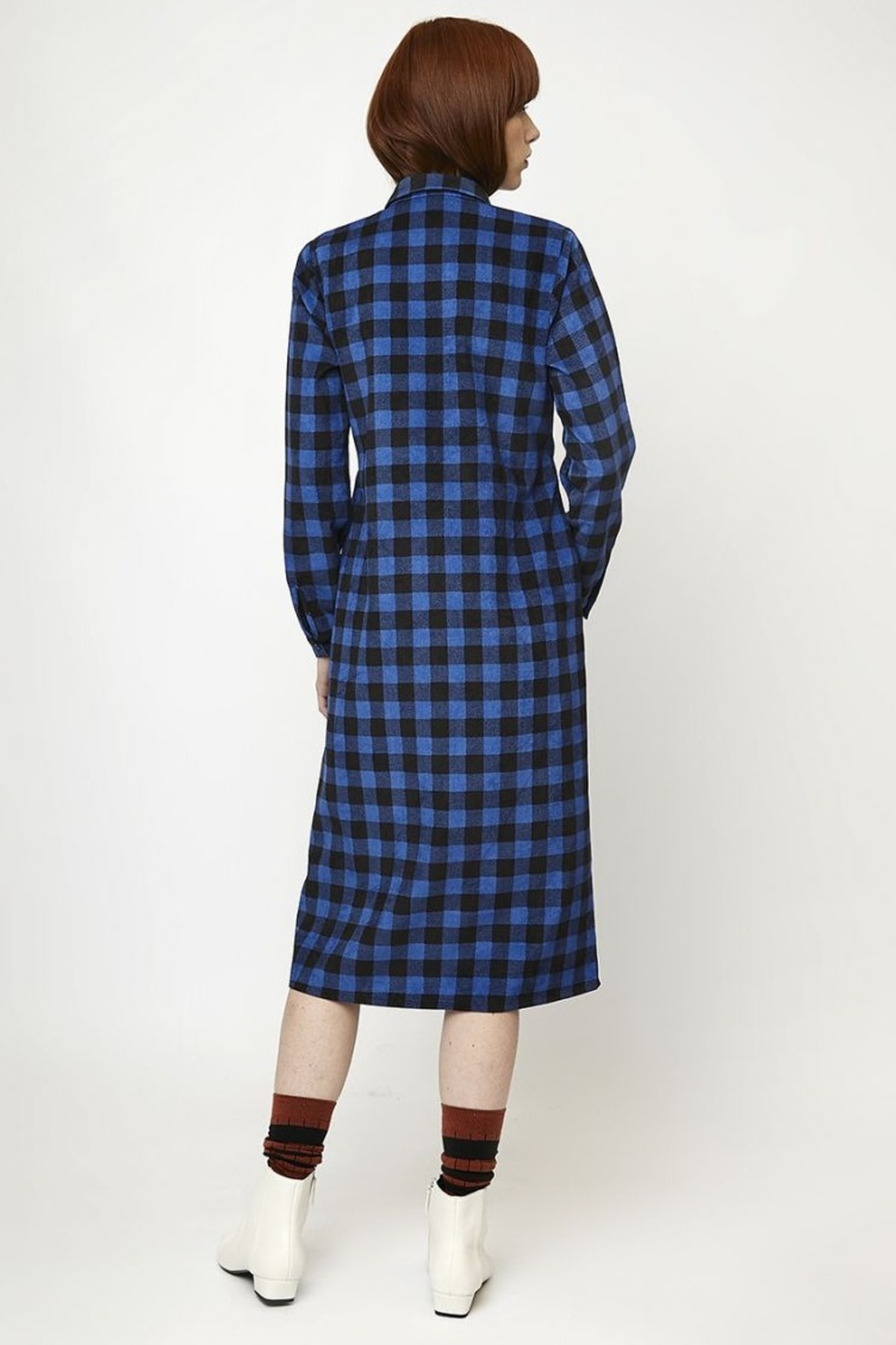 Compania Fantastica Gingham Corduroy Dress - Main Image