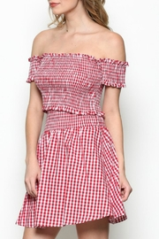 Pretty Little Things Gingham Crop Top - Product Mini Image