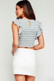 Olivaceous Gingham Crop Top - Side cropped