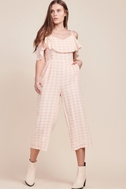BB Dakota Gingham Cropped Jumpsuit - Product Mini Image
