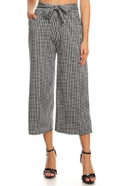 Amazing Grace Gingham Cropped Palazzo-Pants - Product Mini Image