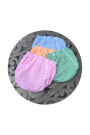 THE ROYALTY COLLECTION Gingham Diaper Cover - Product Mini Image