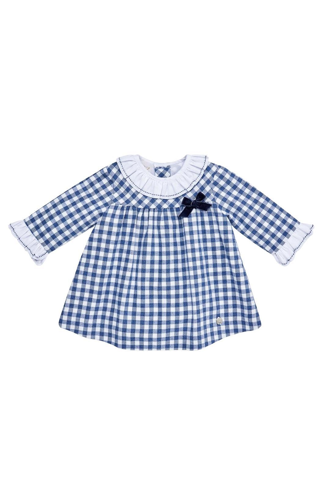 Paz Rodriguez Gingham Dress. - Front Cropped Image