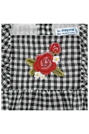 Mayoral Gingham Embroidered Blouse - Front full body
