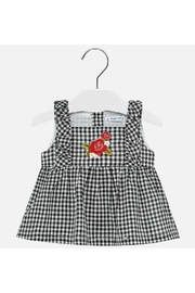Mayoral Gingham Embroidered Blouse - Front cropped