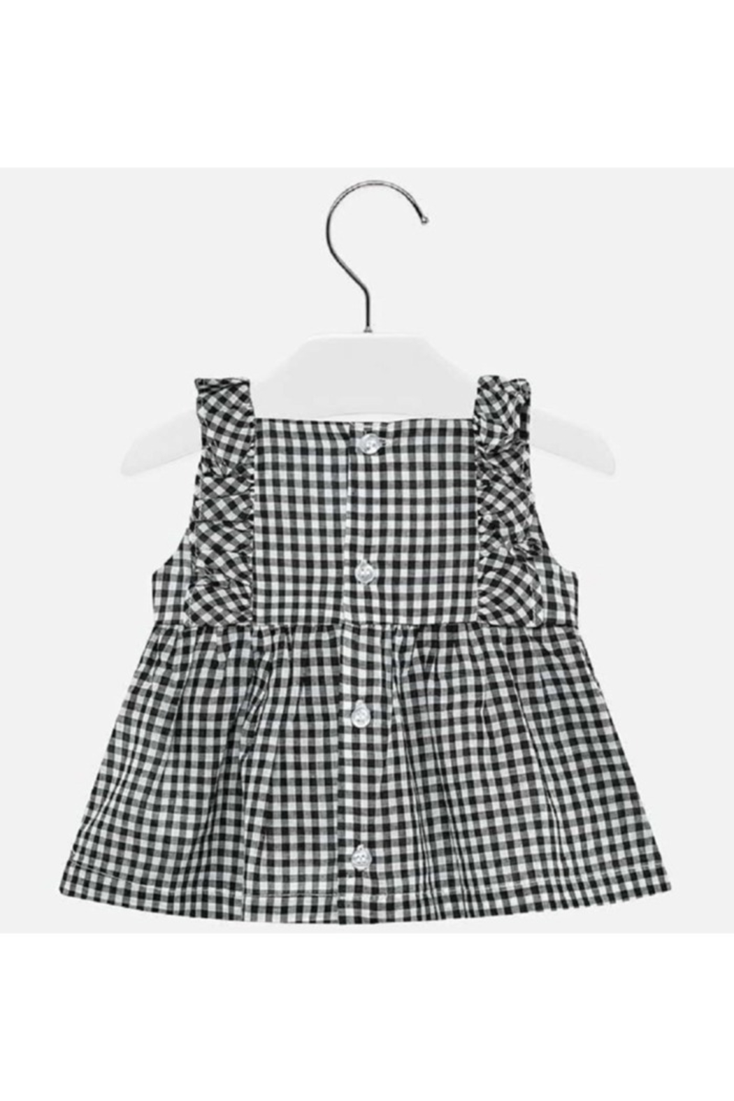Mayoral Gingham Embroidered Blouse - Side Cropped Image