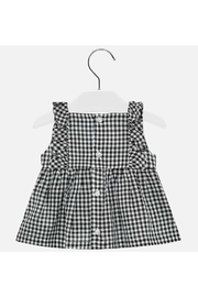 Mayoral Gingham Embroidered Blouse - Side cropped