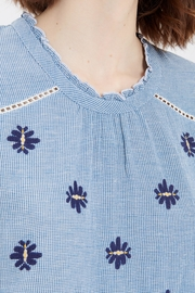 Acoté Gingham Embroidered Top - Other