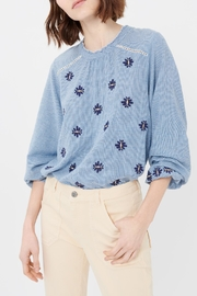 Acoté Gingham Embroidered Top - Side cropped