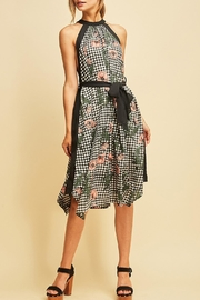 Entro Gingham Floral Dress - Product Mini Image
