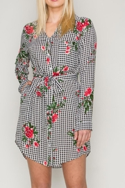 HYFVE Gingham Floral Dress - Product Mini Image
