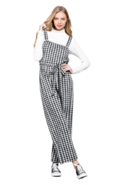 MTS Gingham Jumpsuit - Front cropped
