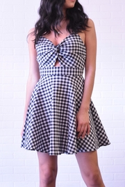 Lovely Day Gingham Knot Dress - Product Mini Image