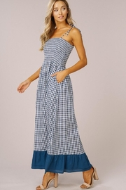 Listicle Gingham Maxi Dress - Back cropped