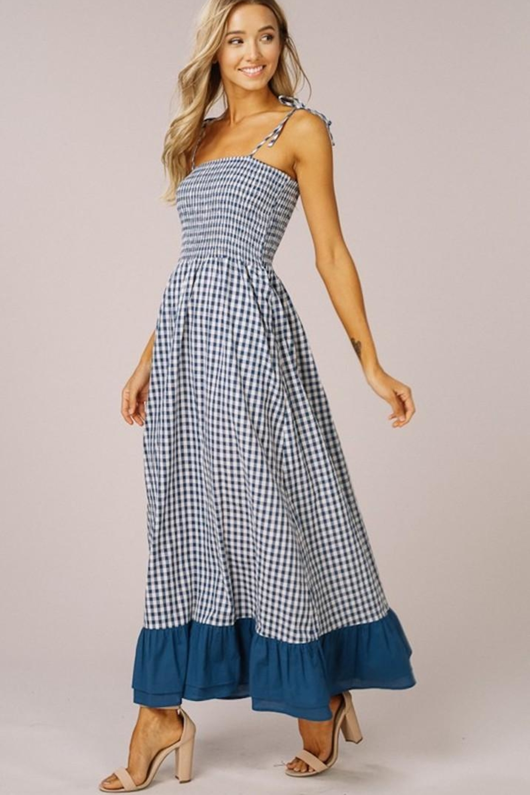 Listicle Gingham Maxi Dress - Main Image