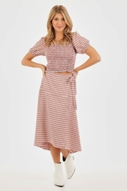 Very J Gingham Midi Wrap Skirt - Product Mini Image