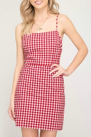 Pretty Little Things Gingham Mini Dress - Product Mini Image