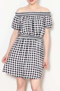 Everly Gingham Off The Shoulder Dress - Product List Image