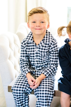Shoptiques Product: Gingham Pajama Set