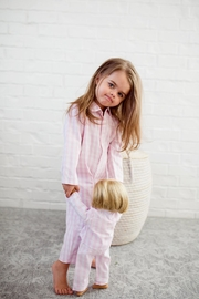 PETITE PLUME Gingham Pajama Set - Front cropped
