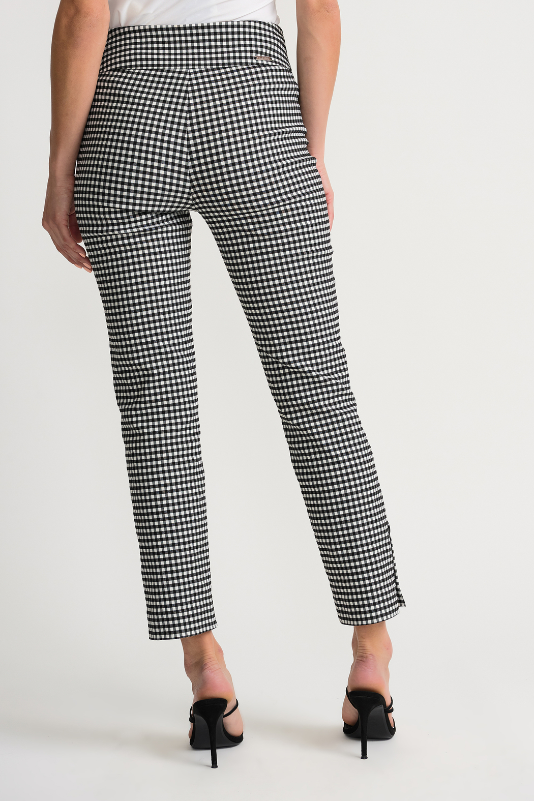 Joseph Ribkoff  Gingham Pants - Side Cropped Image