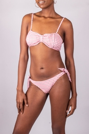 beach joy Gingham Pink Swimsuit - Back cropped