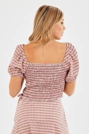Very J Gingham Puff Sleeve Top - Side cropped