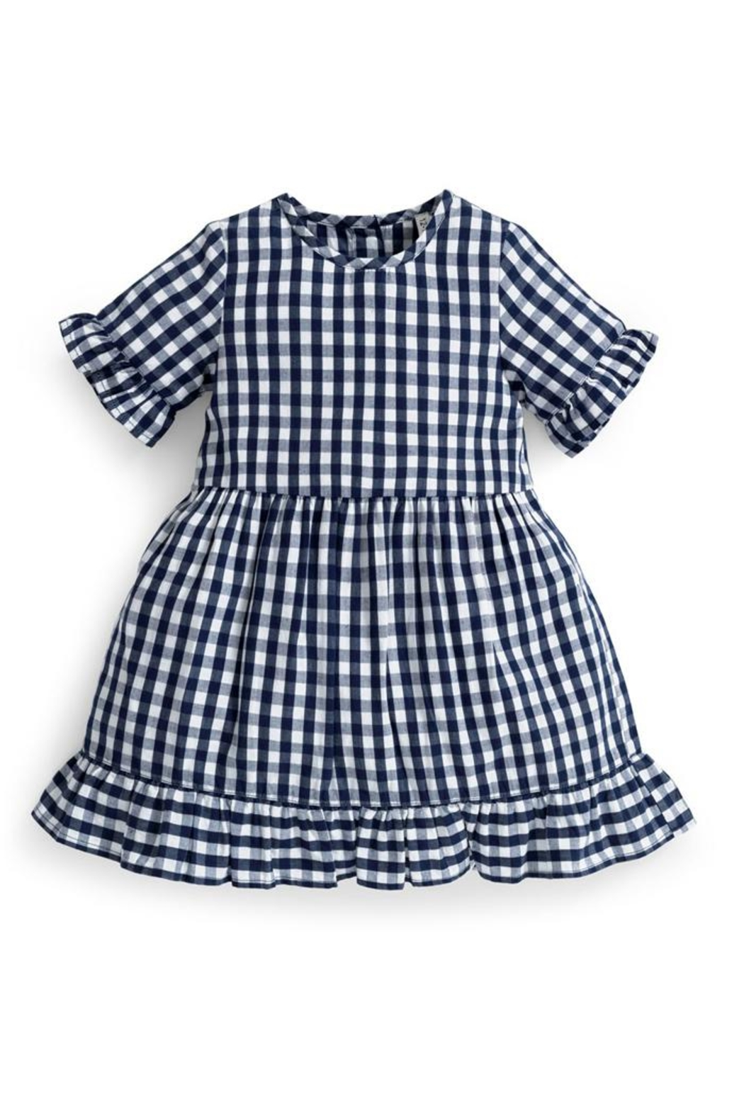JoJo Maman Bebe Gingham Ruffle Dress - Main Image