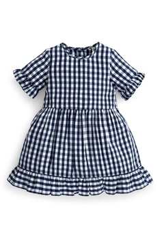 JoJo Maman Bebe Gingham Ruffle Dress - Alternate List Image