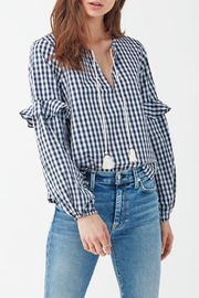 Splendid Gingham Ruffle Top - Product Mini Image