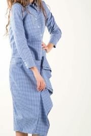 BEULAH STYLE Gingham Skirt Set - Back cropped