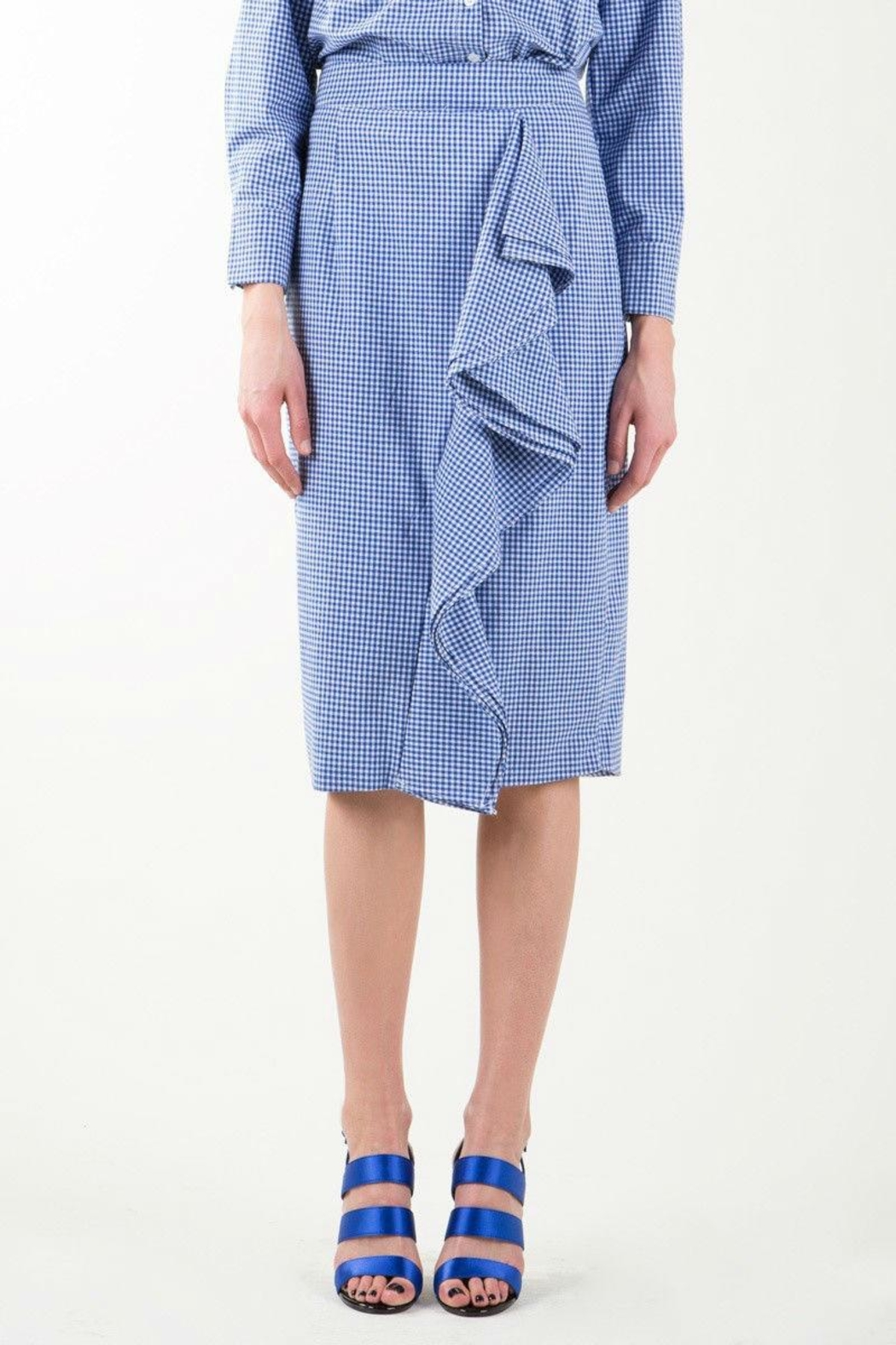 BEULAH STYLE Gingham Skirt Set - Side Cropped Image