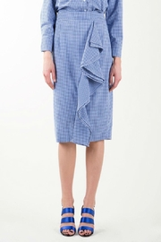 BEULAH STYLE Gingham Skirt Set - Side cropped