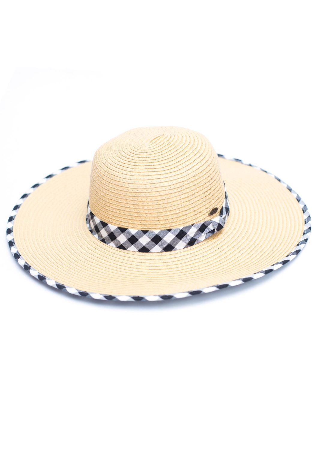 C.C. Gingham Straw Hat - Main Image