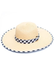 C.C. Gingham Straw Hat - Front cropped