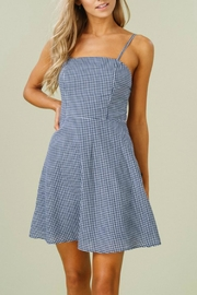 Listicle Gingham Tank Dress - Product Mini Image
