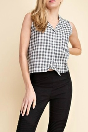 Mittoshop Gingham Tie Blouse - Product Mini Image