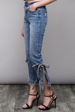 Shoptiques Product: Gingham Tie Denim