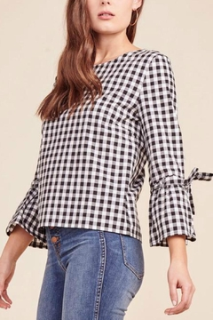 BB Dakota Gingham Tie Top - Product List Image