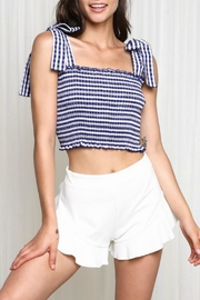 Pretty Little Things Gingham Tie Top - Product Mini Image