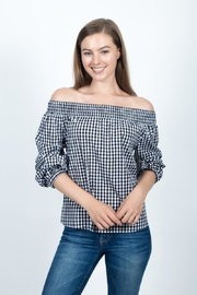 Given Kale Gingham Top - Product Mini Image
