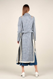 Current Air Gingham Trench Coat - Front full body