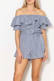In Style Gingham Tube Top Romper - Product Mini Image