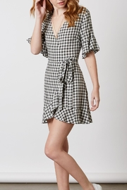 Cotton Candy Gingham Wrap Dress - Product Mini Image
