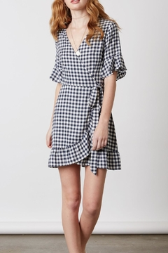 Cotton Candy Gingham Wrap Dress - Product List Image